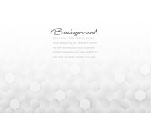 Abstract Geometric Or Isometric Tile Honeycomb Texture White And Gray Polygon Or Low Poly Vector Technology Concept Background.