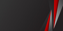 Red Black 3D Abstract Background