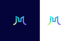 This Is A J And M Letter Logo....