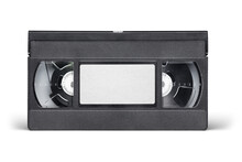 VHS Video Tape Cassette Isolated On White