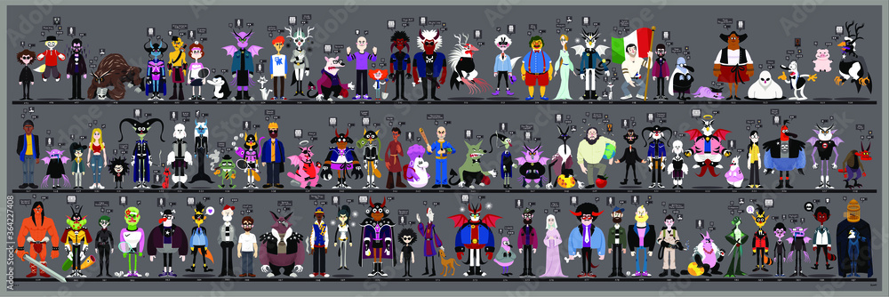 Fototapeta Personaggi e caricature serie 6