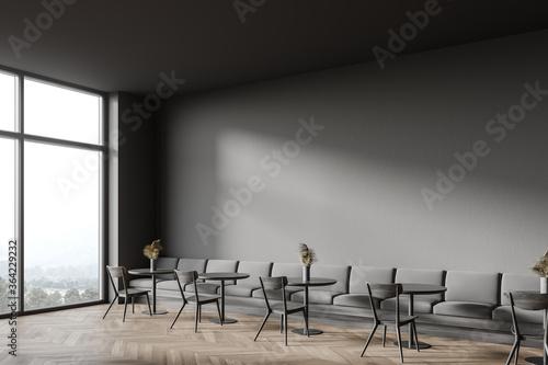 Loft grey cafeteria corner with sofa Canvas