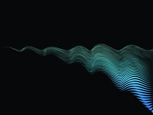 Speed Lines In Wave Form . Vec...