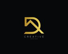 Letter DA AD Logo Design , Creative Minimal DA AD Monogram
