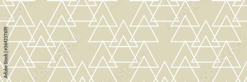 Fototapeta Geometric seamless pattern. White and olive green background obraz