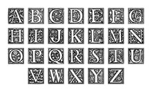 Old Alphabet - Decorative Orna...