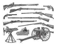 Old Gun Weapon Collection - Vi...