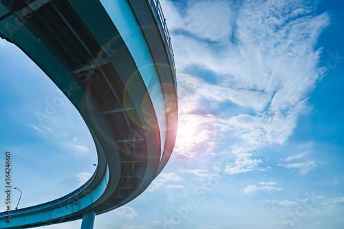 Foto 青空と雲と高架橋