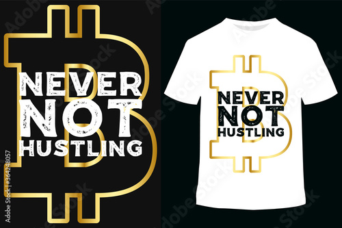 Obraz na plátne vector illustration calligraphy Hustle, graphics design for t-shirts,vintage graphic design