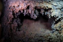 Background Texture Of A Mine Well Pipe Furnace Which Is Covered With A Large Layer Of Black Soot