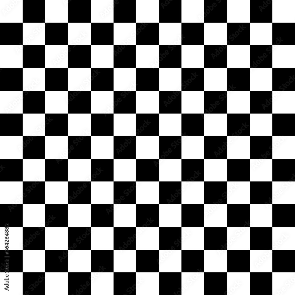 Fototapeta Checker, chess square black and white abstract background. Seamless pattern with squares ornament.
