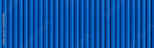 Panorama of blue Corrugated metal background and texture surface or galvanize st Canvas