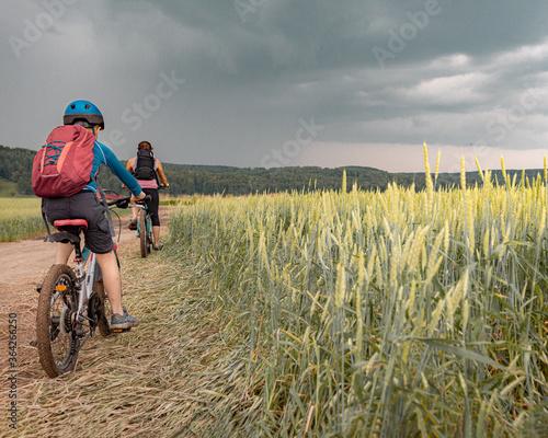 Photo active leasure riding a bike
