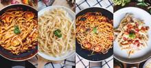 Food Banner. Italian Food, Mix...