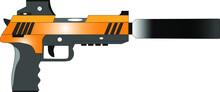 Gun Metal Weapon Vector Illust...