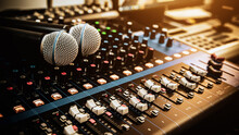 Microphone With Sound Mixer In...