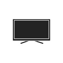 TV Display Black Glyph Icon. E...