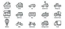 Transportation Icons Vector Il...