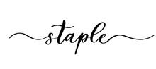 Staple - Vector Calligraphic I...