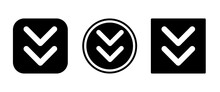 Chevrons Down Icon . Web Icon ...