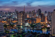 Nice scene from the Condominium rooftop location next to Chao Phraya River Bangkok/Thailand