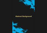 abstract vector splatter blue color on black color design background. illustration vector design
