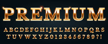 Premium Golden Font. Luxury Al...