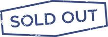 Blue Sold Out Stamp. Grunge Wa...
