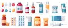 Cartoon Medications. Medical D...