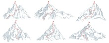 Sketch Route To Mountain Peak....