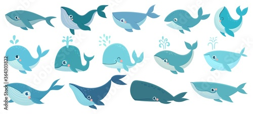 Tablou Canvas Cute whales