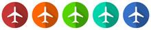 Plane Icon Set, Flight, Airpla...