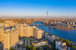 Saint Petersburg. Russia. Panorama of St. Petersburg at dawn. New quarters of St. Petersburg. Urban landscape. Modern urban architecture. Travel to Russian cities.