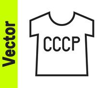 Black Line USSR T-shirt Icon I...
