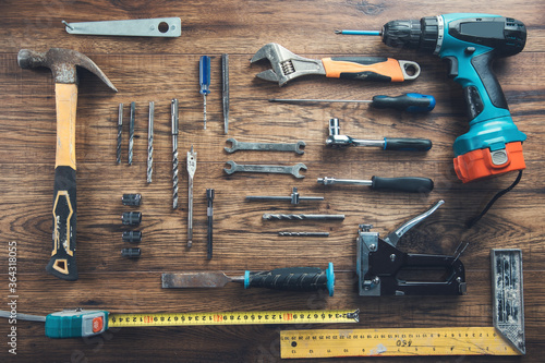 Foto work tools on the table