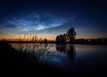 Ural Landscape At Night On The...