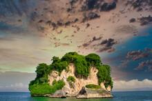 Frigate Birds Over An Island In The Caribbean