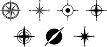 Compass Icons. Set Of Compass ...