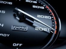 2021 Year Car Speedometer