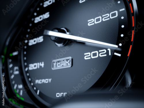 2021 year car speedometer