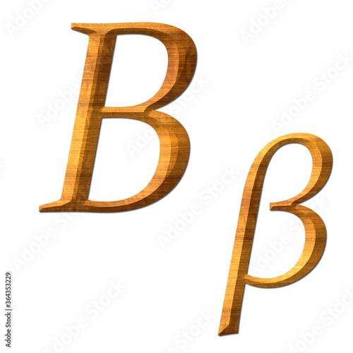 Photo Greek alphabet wooden texture, Bita