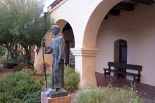 Statue Of Junipero Serra In The SLO Mission