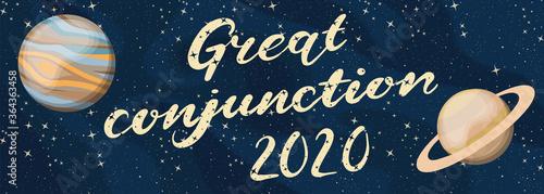 Great phenomenon 2020 in the world of celestial bodies Fototapete