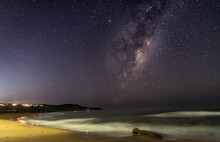 Milky Way Starry Night At The Beach