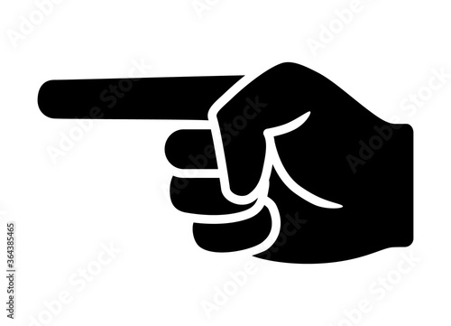 Finger pointing / point hand gesture flat vector icon for apps and websites Wallpaper Mural