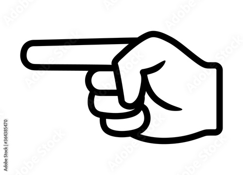 Photo Finger pointing / point hand gesture line art vector icon for apps and websites