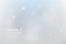 Blur Winter Sky Abstract Background With White Snowfall Bokeh