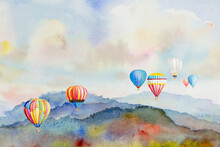 Watercolor Painting Colorful H...