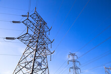 High Voltage Electric Tower On...