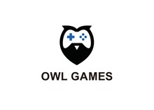 Owl Games Logo Design Template